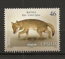 SERBIA 2014,FAUNA,WOLF,CANIS LUPUS,MNH - Serbia