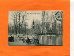 PARIS  ARONDISSEMENT 12  1903    BOIS DE VINCENNES LAC ET PASSEUR      CIRC  OUI  EDIT - Arrondissement: 12