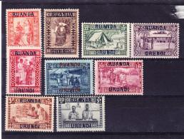 RUANDA - URUNDI COB 81/9 X MH. (4Z11)