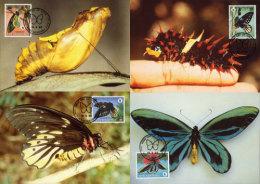 (WWF-070) Maxi Maximum Cards / Maxicard W.W.F. Papua New Guinea Butterfly 1988 - W.W.F.