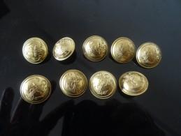 LOT  BOUTON MILITAIRE MARINE Diam. Env. 22 Mm  T. W. & W. - Buttons