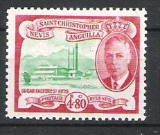 St Christopher Nevis Anguilla 1952 Definitive MNH CV £28 (2 Scans) - St.Christopher-Nevis-Anguilla (...-1980)