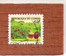 REP.  DU  CONGO  --  MBILA  ESOBE  --  FRUIT SAUVAGE  CONGOLAIS   -- ** 40 F. ** --  POSTE  2002  --  BEG - Used