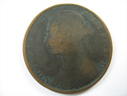 UK GREAT BRITAIN ENGLAND 1 ONE PENNY  QUEEN  VICTORIA 1892   LOT 31 NUM 15 - D. 1 Penny