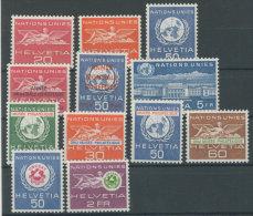 Schweiz �mter UNO Michel No. 28 - 39 ** postfrisch