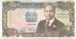 BILLETE DE KENIA DE 200 SHILINGI DEL AÑO 1990 (BANK NOTE) - Kenia