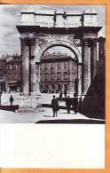 Croatia 1962 Y Traveled Postcard Pula Architecture Golden Gate - Croatie