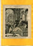- L'ANNEAU DE SAINT MARC .  GRAVURE SUR BOIS  DU XIXe S  . DECOUPEE ET COLLEE SUR PAPIER . - Religion & Esotérisme