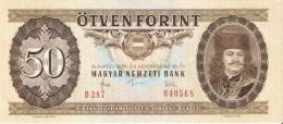 BILLETE DE HUNGRIA DE 50 FORINT DEL AÑO 1983  (BANKNOTE) SIN CIRCULAR-UNCIRCULATED - Hungría