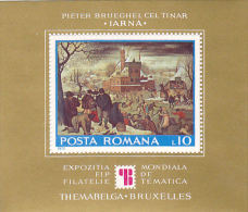 WORLD PHILATELIC EXHIBITION, THEMABELGA, COLITA NO. 127, MINT BLOCK, MI 3311, 1975, ROMANIA - Blocs-feuillets