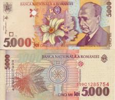 ROMANIA 5000 5.000 LEI 1998 FDS UNC - Romania