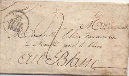 Lettre De 1829 Envoyée D'ARGENTON à LE BLANC - Marcophilie (Lettres)