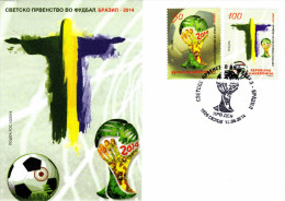Macedonia / FDC / Brazil 2014 FIFA World Cup / Sport / Football / Soccer - Macedonia
