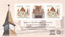 ROMANIAN- GERMAN EMISSION, BIERTAN, ABBEY, BLOCK MINT, 2011, ROMANIA - Blocs-feuillets