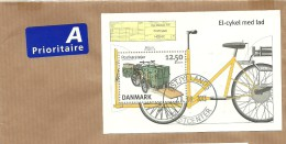 Danmark Sheet Postfahrzeuge Michel 1738 Cover - Transportmiddelen