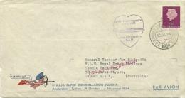 First Flight KLM Super Constellation Amsterdam- Sydney Postillon D'amour 31-10-1954 - Vliegtuigen
