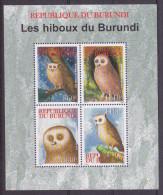 [X] Feuillet Sheet ** Oiseau De Proie Bird Of Prey Rapace Hibou Owl Burundi 2009