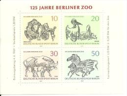 Berlin Sheet Mint 125 Jahre Berliner Zoo Michel Nrs 338-341 - Andere