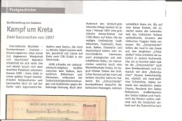 Kreta, Geschichtlicher Überblick 1897 - 1909 Auf 2 DIN A 4 Seiten - Postal Stationery