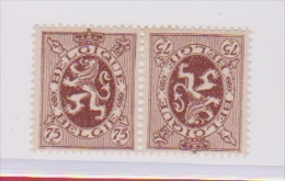 Belgique //  N 288 Aa  // 75 C Rouge //  Tête Bêche // Petit Défaut De Gomme  //  Côte 80 € - Unused Stamps