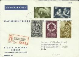 HOLANDA CC CERTIFICADA GRAVENHAGE SELLOS ARTE PINTURA FOSIL RELOJ - 1949-1980 (Juliana)