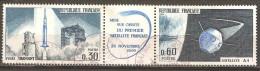 France - 1965 - Lancement Du 1er Satellite National - YT 1465a Oblitéré - Space