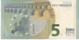 5€ France Draghi UC U005E3 Non Circulé - 5 Euro