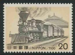 "Japan Japon Nippon 1975 Mi 1257 ** Class 7100 Steam Locomotive ""Benkei"" (1880) / Aus USA Importierte Dampflokomotive - Treinen"