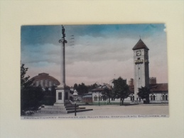 REVOLUTIONARY MONUMENT AND ROYAL STATION 1908 VIAGGIATA. M - Baltimore