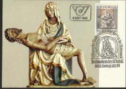 """Österreich  Erstag  1978   """"Landesausstellung Gotik I. D. Steiermark - St. Lambrecht""""   ANK Nr. 1607 - Maximum Cards"""