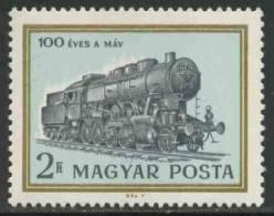 Hungary Ungarn 1968 Mi 2422 ** Class 424 Steam Locomotive  No. 176 – Cent. Hungarian State Railways / Dampflok. - Treinen