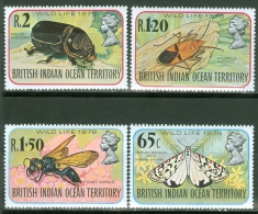 British Indian Ocean Territory 1976 Insects MNH** - Lot. 2773 - British Indian Ocean Territory (BIOT)