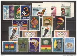 1960 Ghana ANNATA  YEAR 6 Serie Con 21v. (64/84) MNH** - Ghana (1957-...)