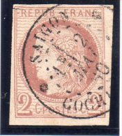 FRANCE : N° 15  . OBL . 1872/77 . FENTE . - Cérès