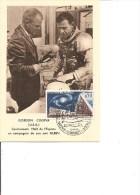 Espace -Cosmonautes -Gordon -Cooper ( Carte Commémorative De France De 1963 à Voir) - FDC & Commemoratives