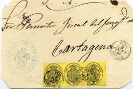 ISABEL II     Frontal   Nº 35    De   Vera  A   Cartagena  -121 - 1850-68 Royaume: Isabelle II