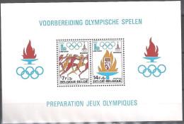 Belgique 1978 COB Bloc Feuillet 53 Neuf ** Cote (2016) 2.00 Euro Jeux Olympiques Lake Placid - Moscou 1980 - Blokken 1962-....