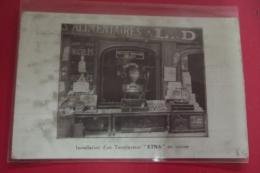 """C Photo Rare Installation D'un Torrefacteur """" Etna"""" En Vitrine Pub Etablissements Repiquet - Arrondissement: 11"""