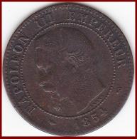 "Franc NAPOLEON III 2 CENTIMES 1854 B  Bronze Etat ""TB"" F107/10 - France"