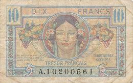BILLETS  10 FRANCS    TRESOR FRANCAIS - 1947 Trésor Français