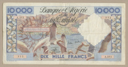 ALGERIA - 10000 Francs  1957  P110  GF  ( Banknotes ) - Algérie