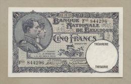 Belgium - 5 Francs  1927  P97b  Superb EF  !!!!!!!!!!!!!!  ( Banknotes ) - [ 2] 1831-... : Royaume De Belgique