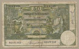 Belgium - 50 Francs  1924  P68c  VG++  !!!!!!!!!!!!!!  ( Banknotes ) - [ 2] 1831-... : Koninkrijk België