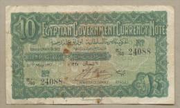 EGYPT - 10 Piastres  1917  P160b  Fine  ( Banknotes ) - Egypte