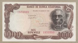 EQUATORIAL GUINEA - 1000 Bipkwele  1979  P16  Uncirculated  ( Banknotes ) - Guinée Equatoriale