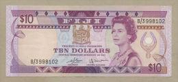 FIJI - $10  1980  QEII  P78  VF-EF  ( Banknotes ) - Fiji