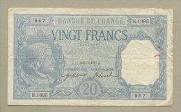 France - 20 Francs  1917  P74  TB / Fine  !!!!!!!!!!!!!!!  ( Banknotes ) - 20 F 1916-1919 ''Bayard''