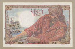 FRANCE - 20 Francs  1943  P100a  Uncirculated  ( Banknotes ) - 1871-1952 Anciens Francs Circulés Au XXème