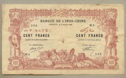 French Somaliland, Djibouti - 100 Francs  1920  P5  Good Fine ( Banknotes ) - Djibouti