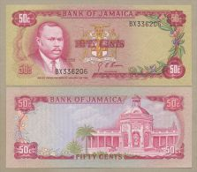 JAMAICA - 50 Cents  1970  P53  Uncirculated  ( Banknotes ) - Jamaique